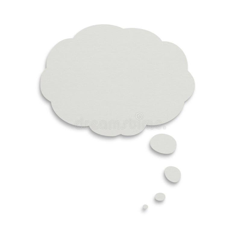 Bulle de papier de pensée avec le chemin de découpage image stock