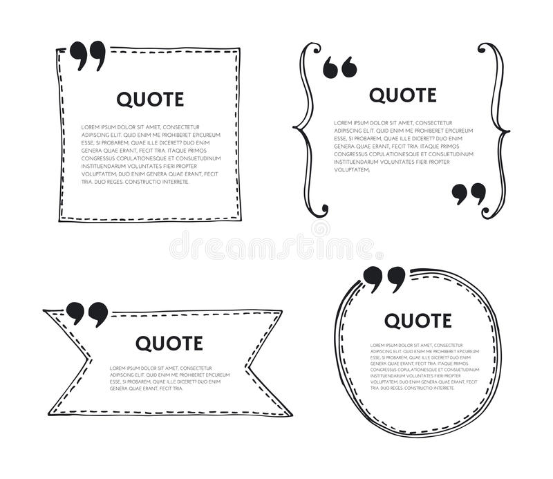 Bulle des textes de citation illustration stock