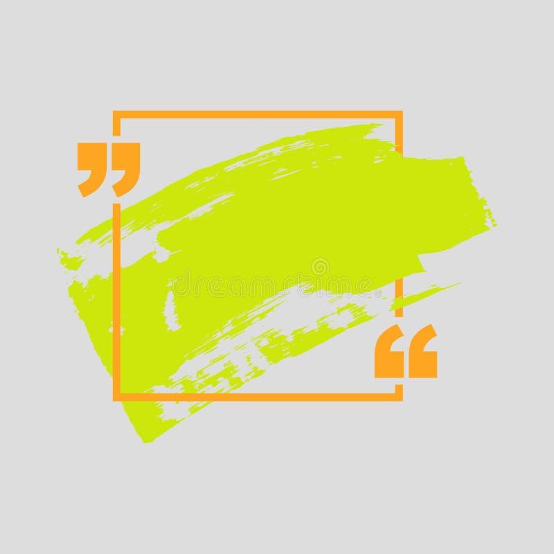 Bulle des textes de citation Les virgules, la note, le message et le commentaire con?oivent l'?l?ment illustration stock