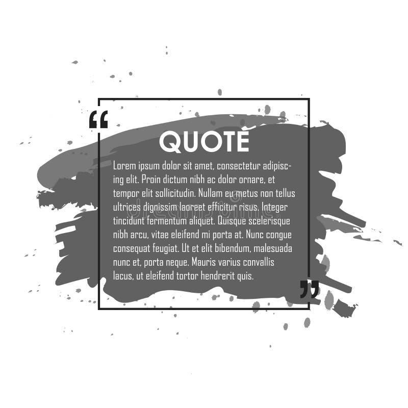 Bulle des textes de citation Virgules, note, message et commentaire Élément de conception illustration libre de droits