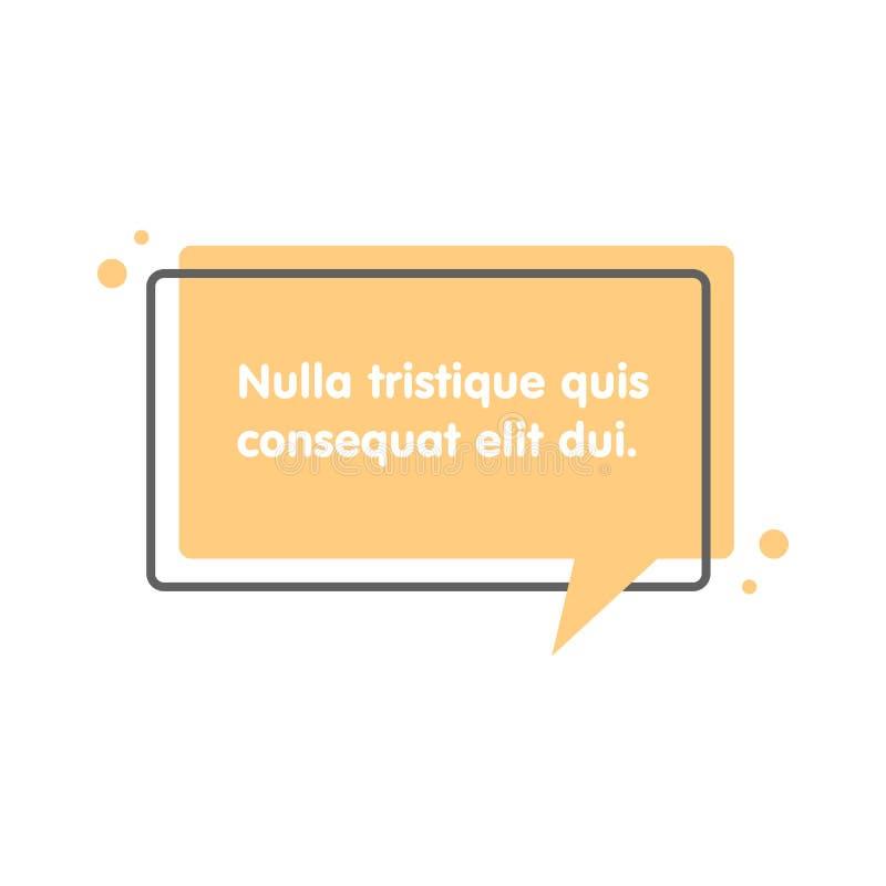 Bulle des textes de citation Virgules, note, message et commentaire illustration stock