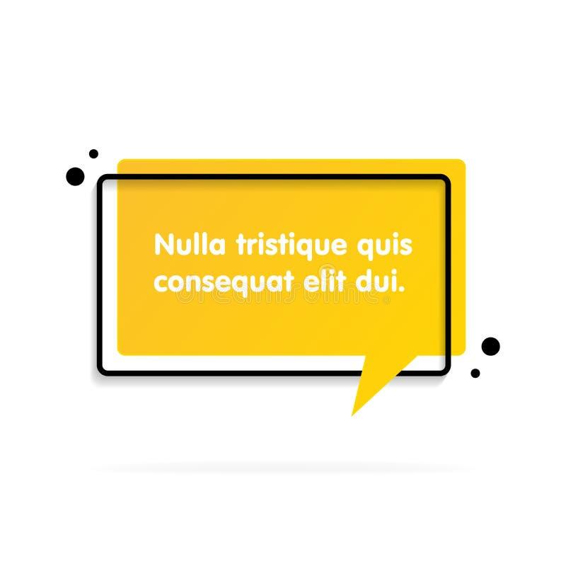 Bulle des textes de citation Virgules, note, message et commentaire illustration libre de droits