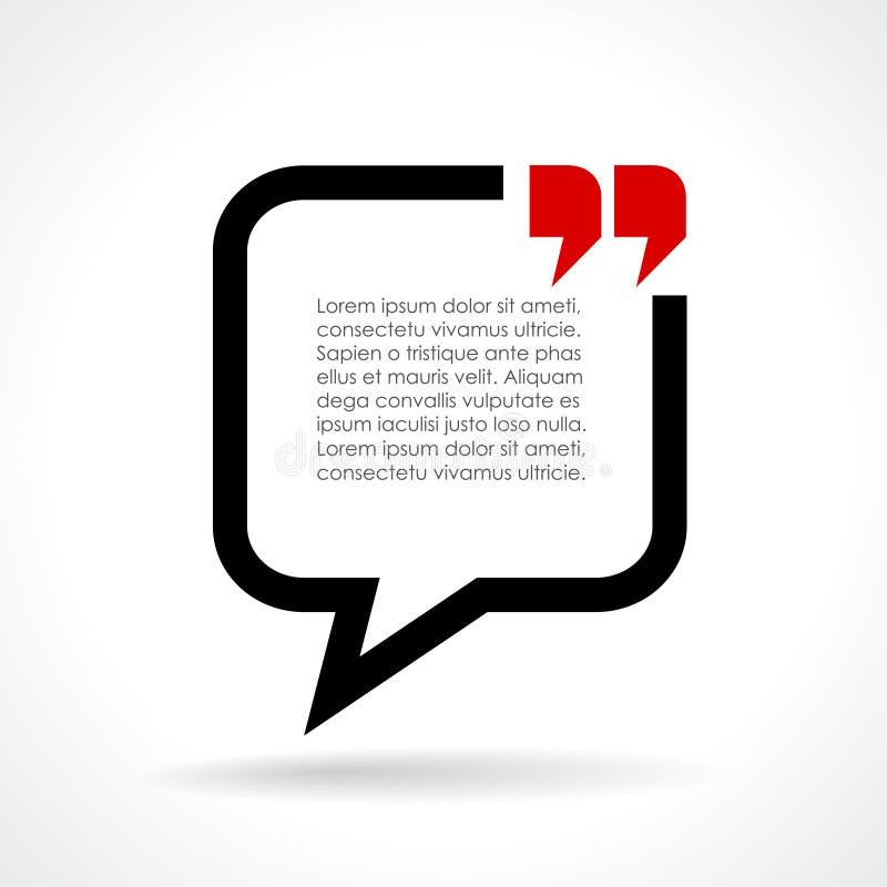 Bulle des textes de dialogue illustration de vecteur