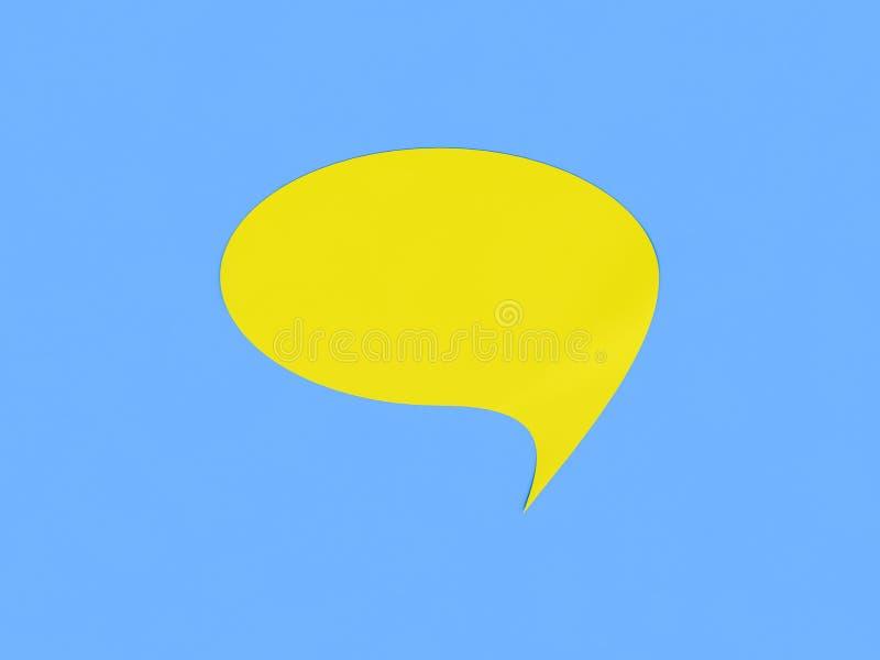 Bulle jaune de la parole illustration de vecteur