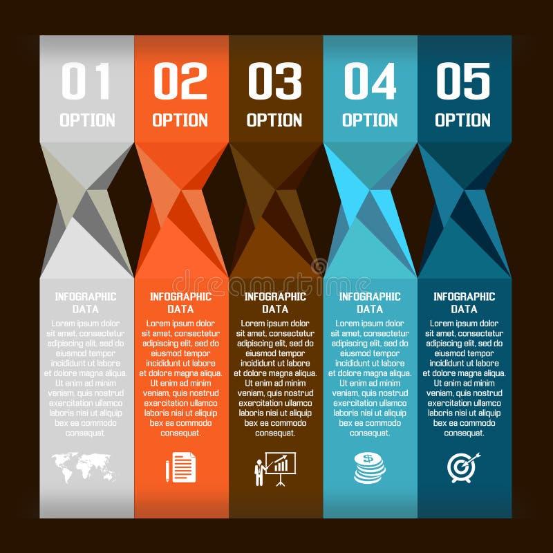 Bulle moderne de la parole d'abrégé sur vecteur infographic illustration libre de droits