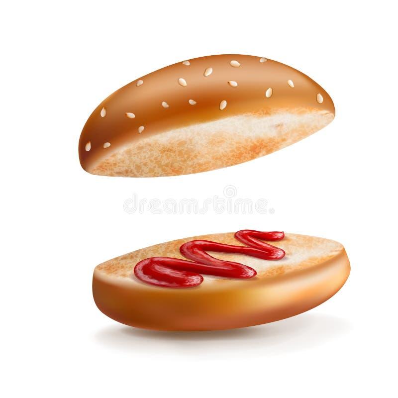 bulle och ketchup vektor illustrationer