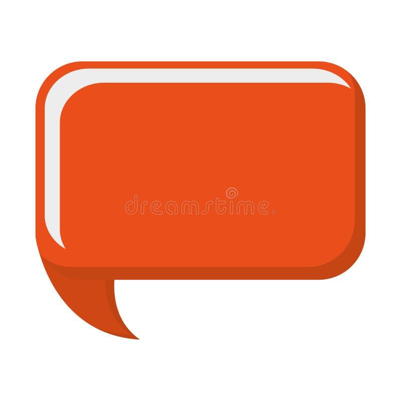 bulle orange de conversation illustration de vecteur