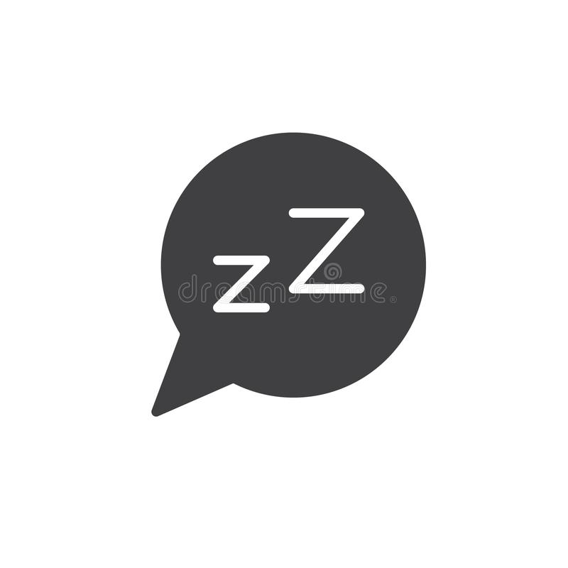 Bulle rêveuse de la parole avec l'icône de lettre de Z illustration stock