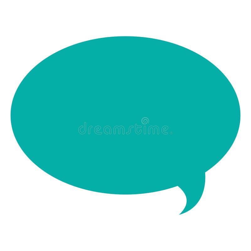 bulle ronde de conversation illustration de vecteur