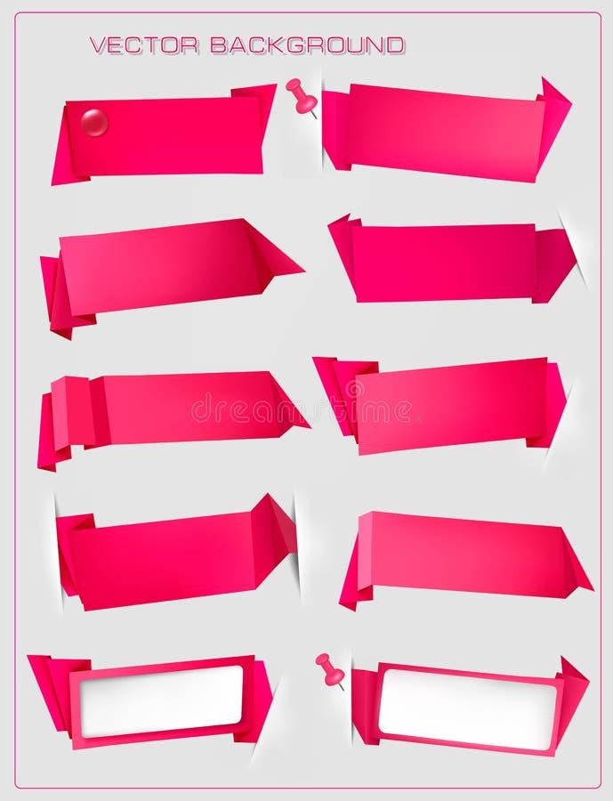 Bulle rouge abstraite de la parole d'origami   illustration de vecteur