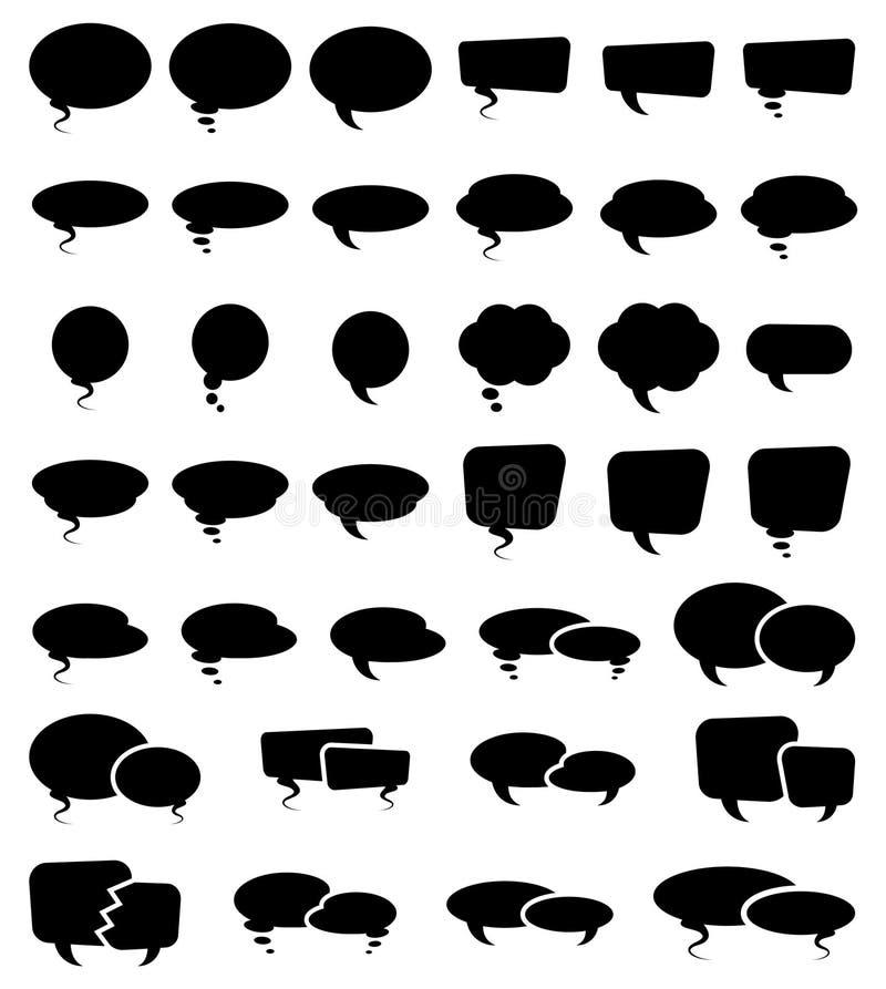 Bulle Sihouettes de la parole illustration stock