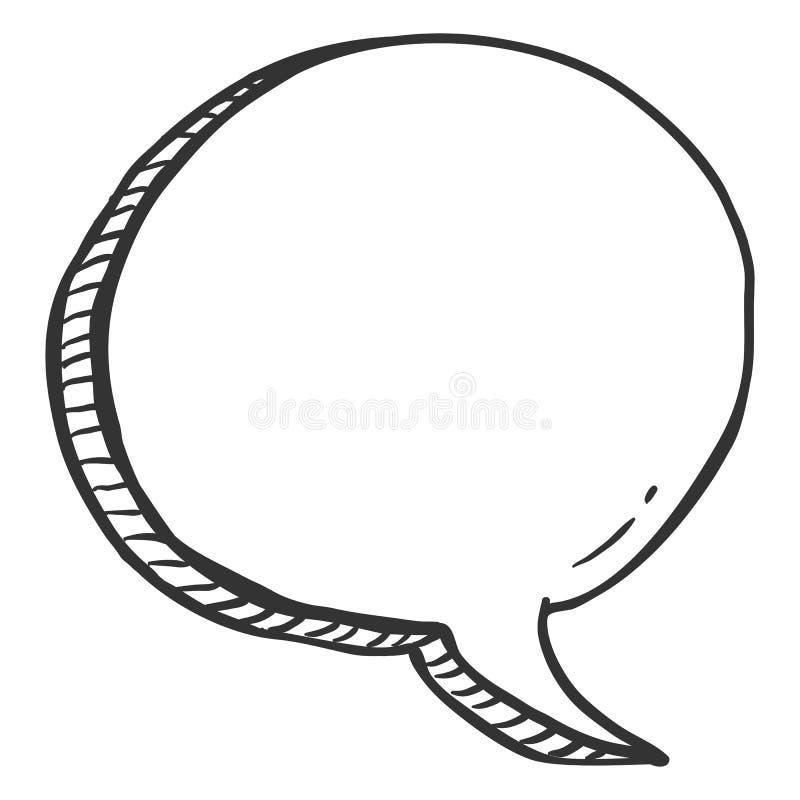 Bulle simple de la parole de bandes dessinées de croquis de vecteur Ballon de Comix illustration de vecteur