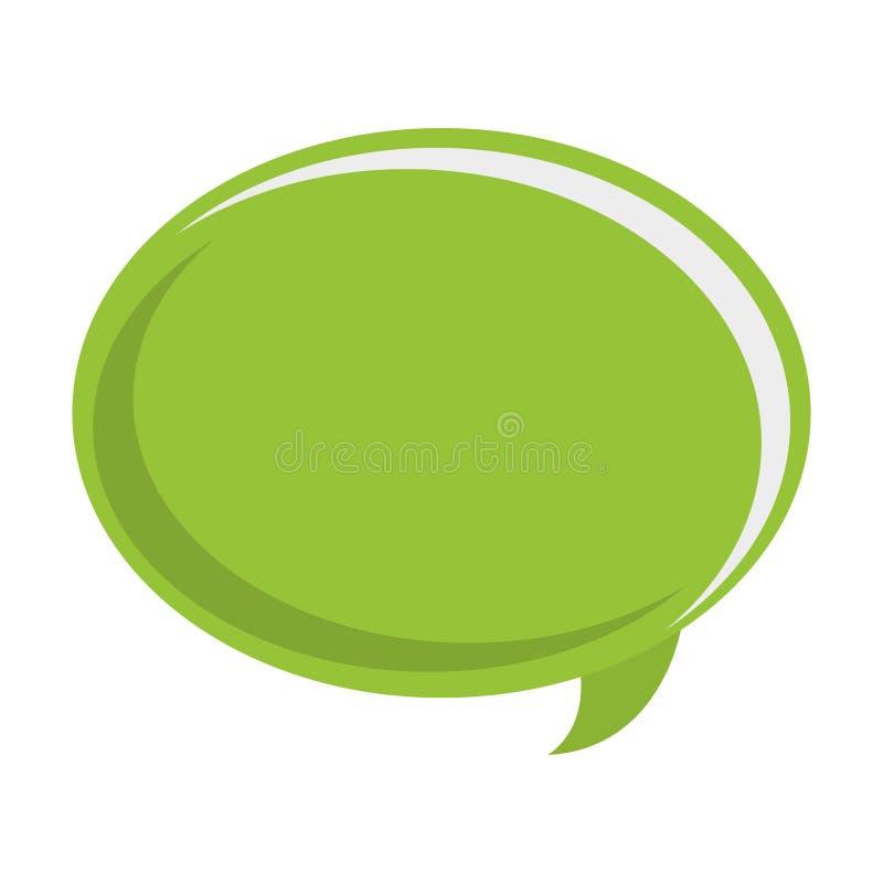 bulle verte de conversation illustration stock