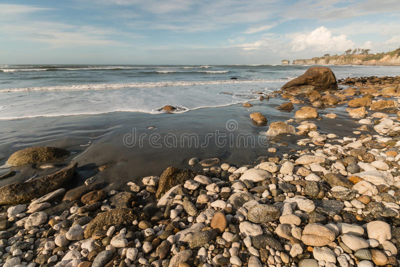Buller在新西兰的西海岸的海湾海滩 免版税库存照片