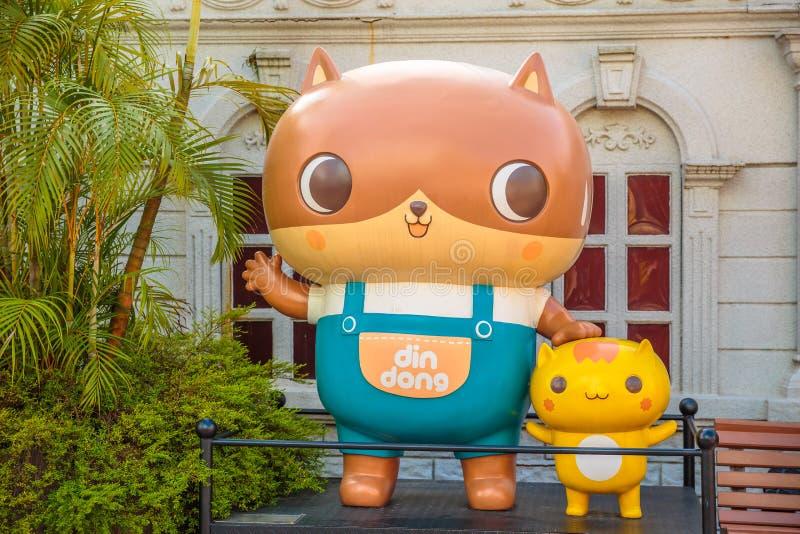 Buller-Dong Kowloon parkerar royaltyfria bilder