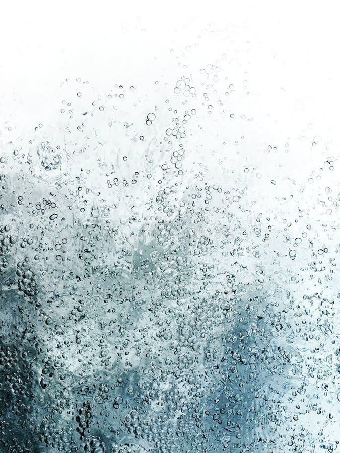 Bulles à l'arrière-plan d'écoulement de l'eau photo stock