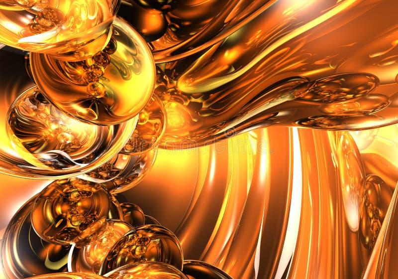 Bulles 01 d'orange illustration stock