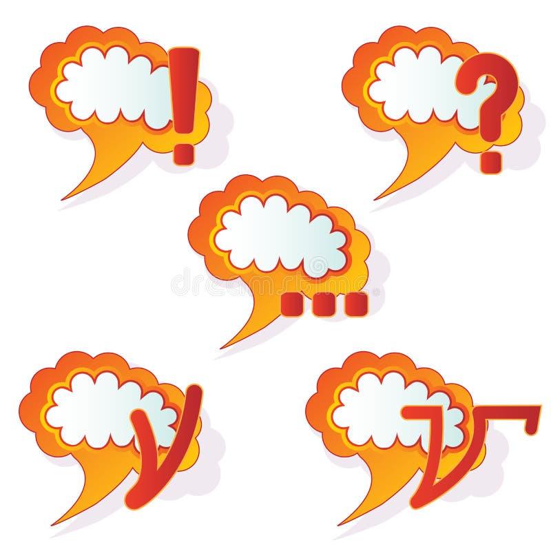 Bulles abstraites de la parole illustration stock