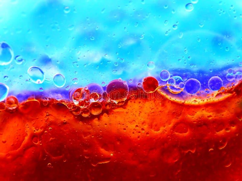 bulles bleues rouges photographie stock libre de droits