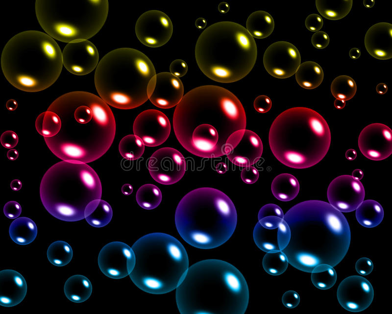 Bulles colorées illustration de vecteur