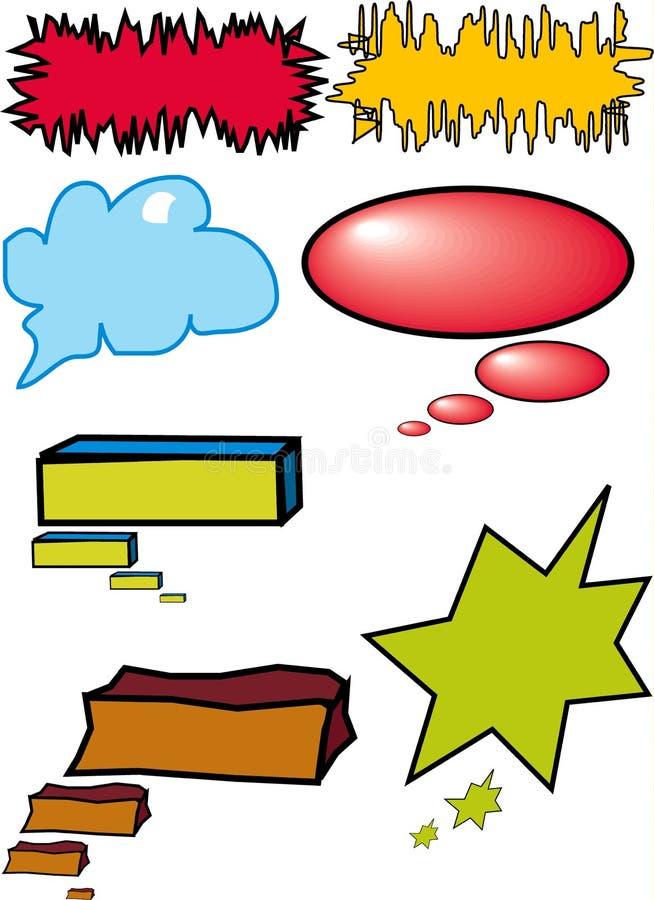Bulles colorées de dialogue illustration de vecteur