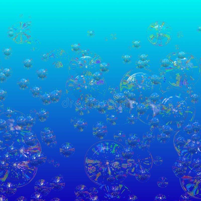 Bulles colorées de l'eau illustration libre de droits