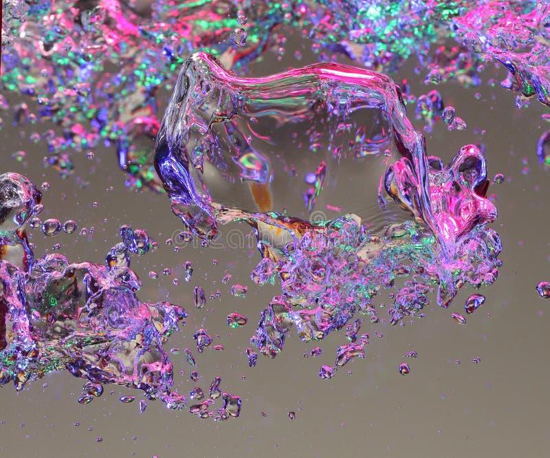 Bulles d'air dans l'eau photographie stock libre de droits