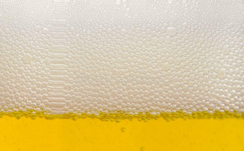 Bulles de bière image libre de droits