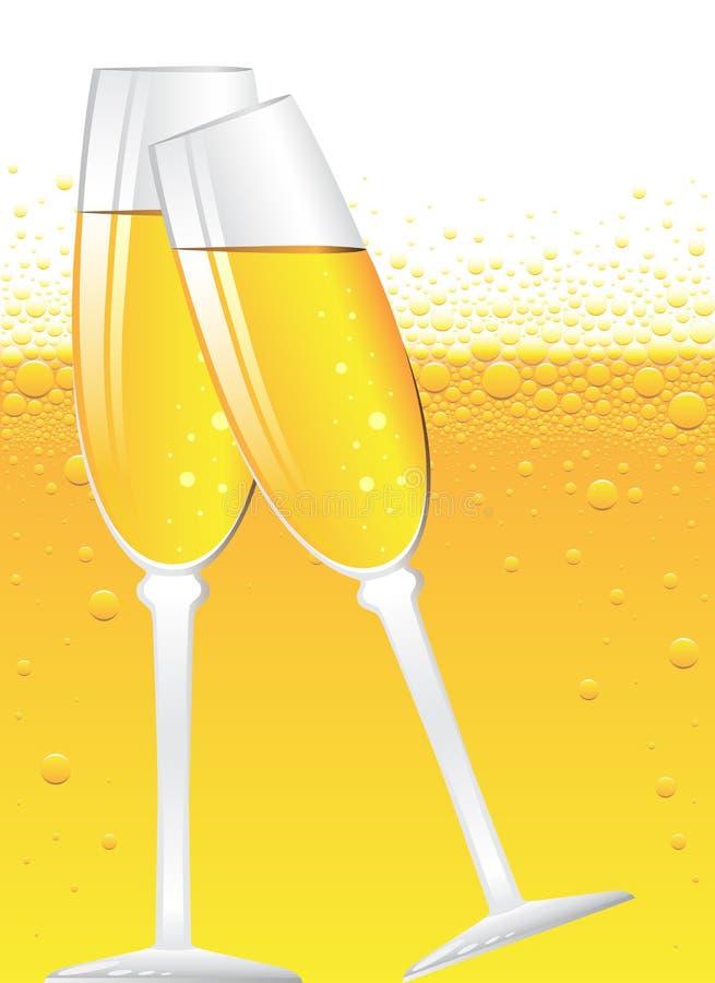 Bulles de Champagne illustration de vecteur