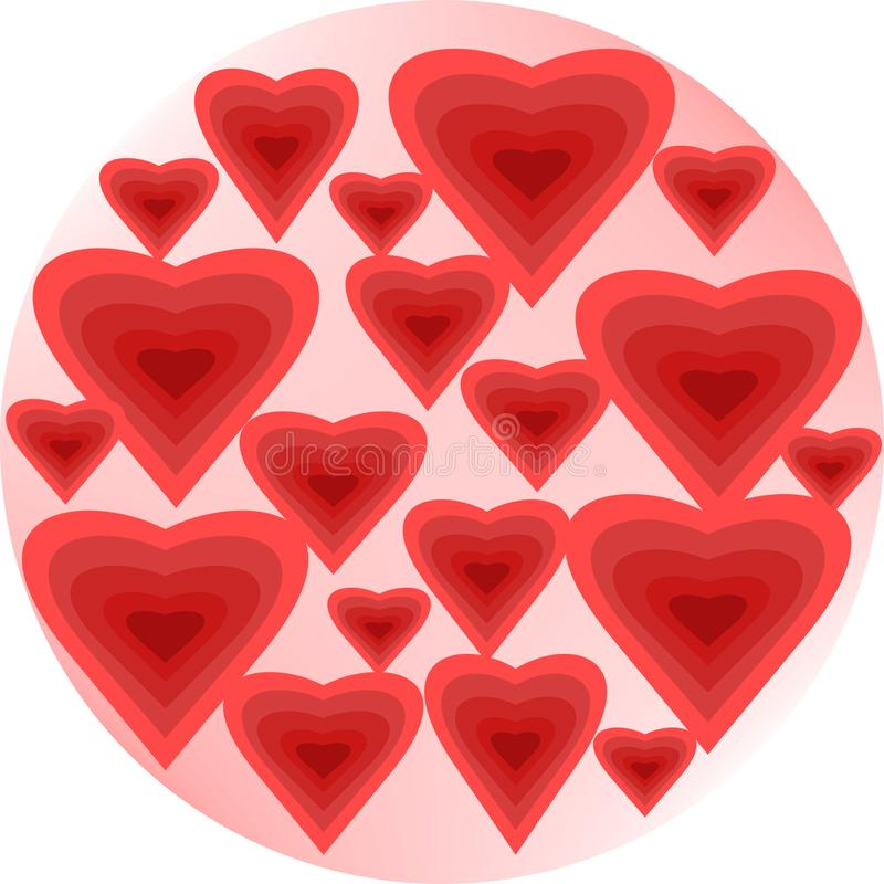 Bulles de coeur illustration stock