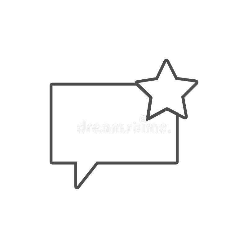 bulles de communication avec une icône d'astérisque Élément de Web pour le concept et l'icône mobiles d'applis de Web Ligne mince illustration de vecteur