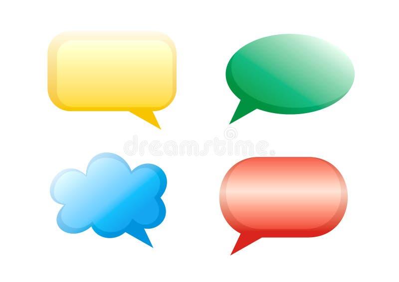 Bulles de dialogue image libre de droits