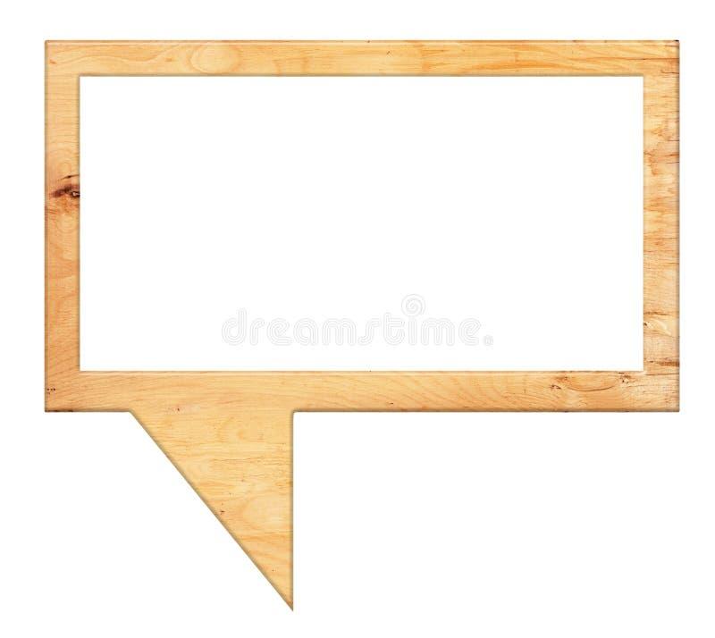 Bulles de la parole de bois photographie stock