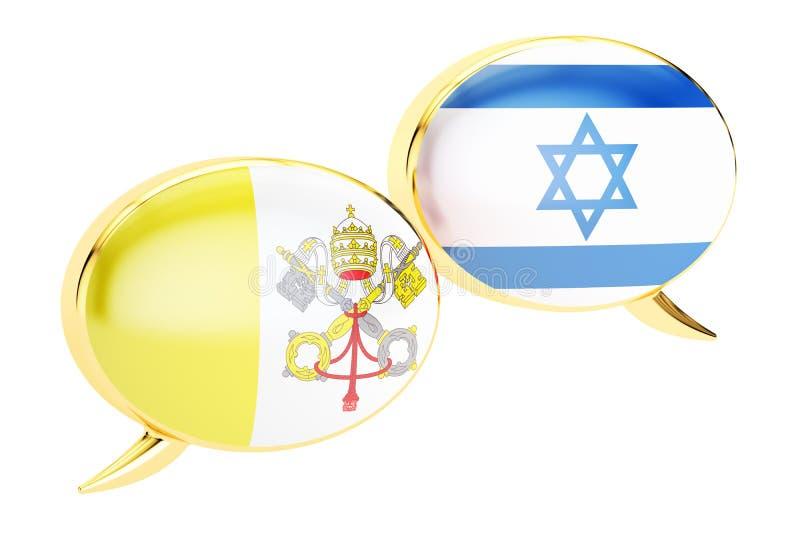 Bulles de la parole, concept Latin-israélien de conversation rendu 3d illustration de vecteur
