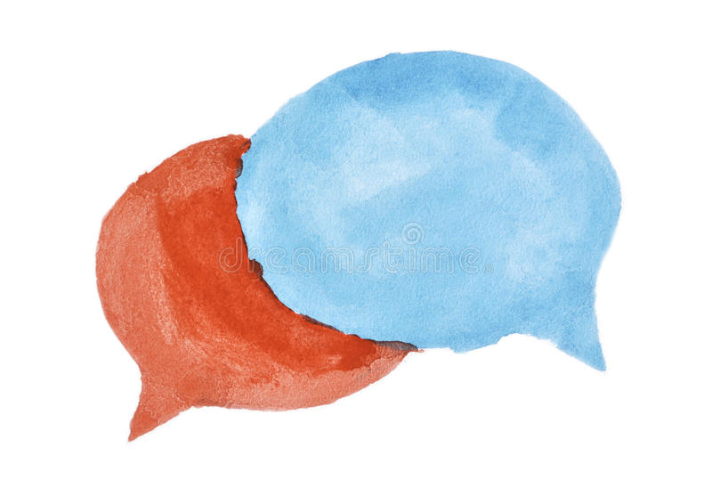 Bulles de la parole d'aquarelle illustration libre de droits