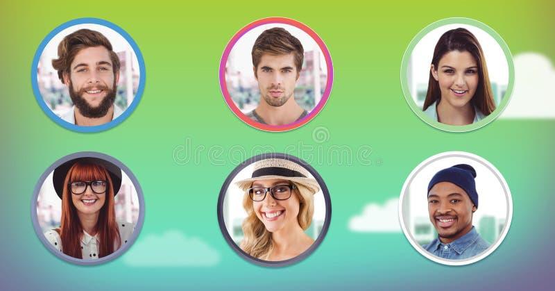 bulles de personnes de profil photo stock