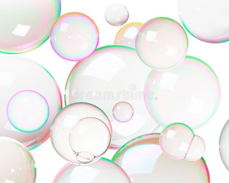 Bulles de savon colorées photographie stock