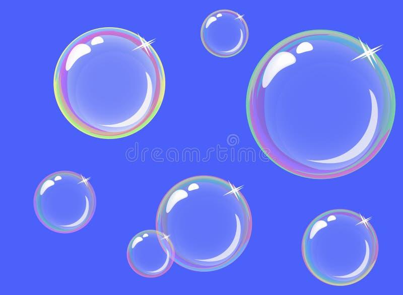 Bulles de savon transparentes illustration stock