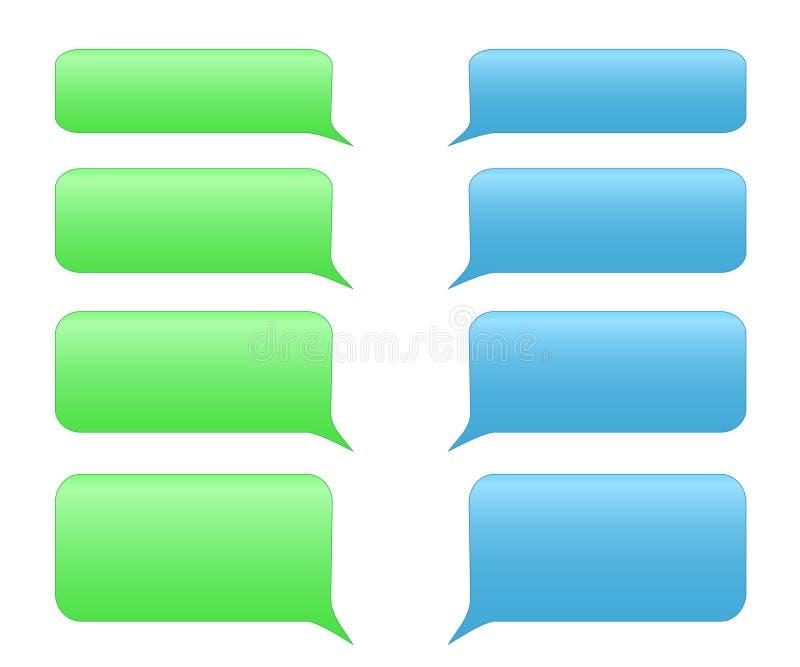 Bulles de service de message court illustration stock