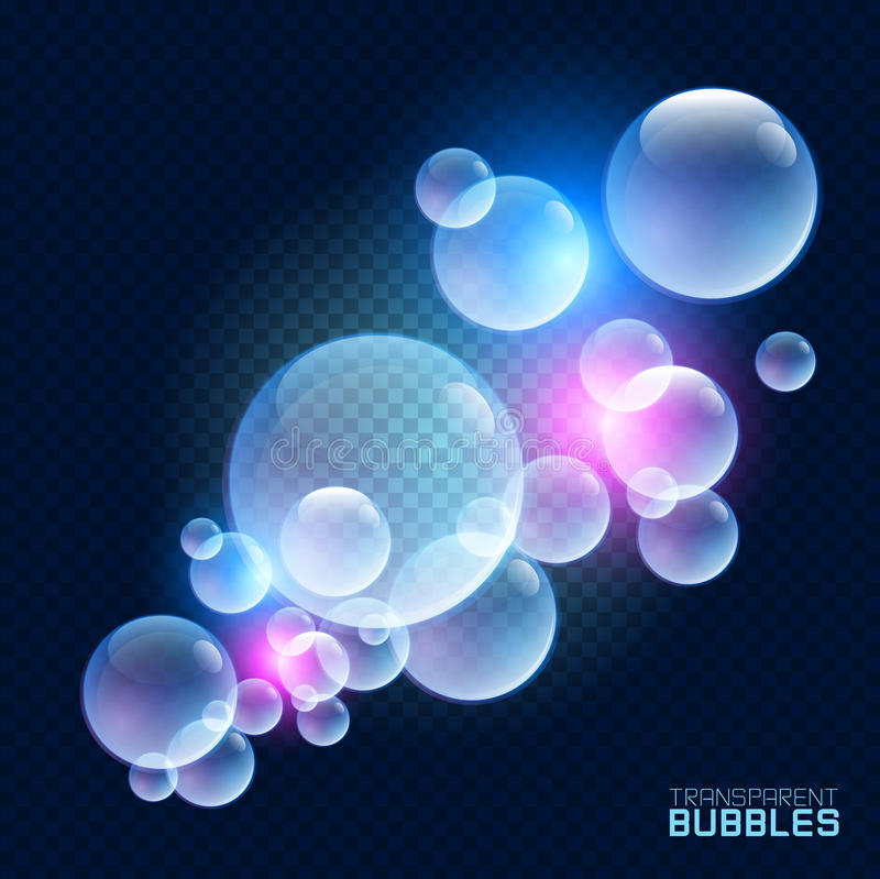 Bulles transparentes illustration de vecteur