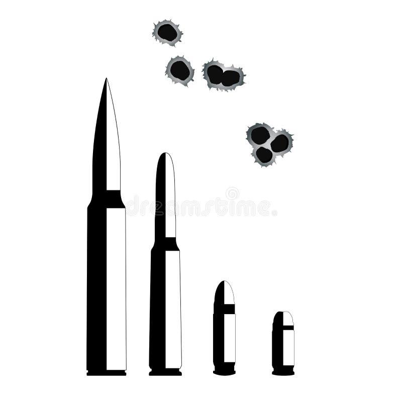 bullet Armas en el fondo blanco libre illustration