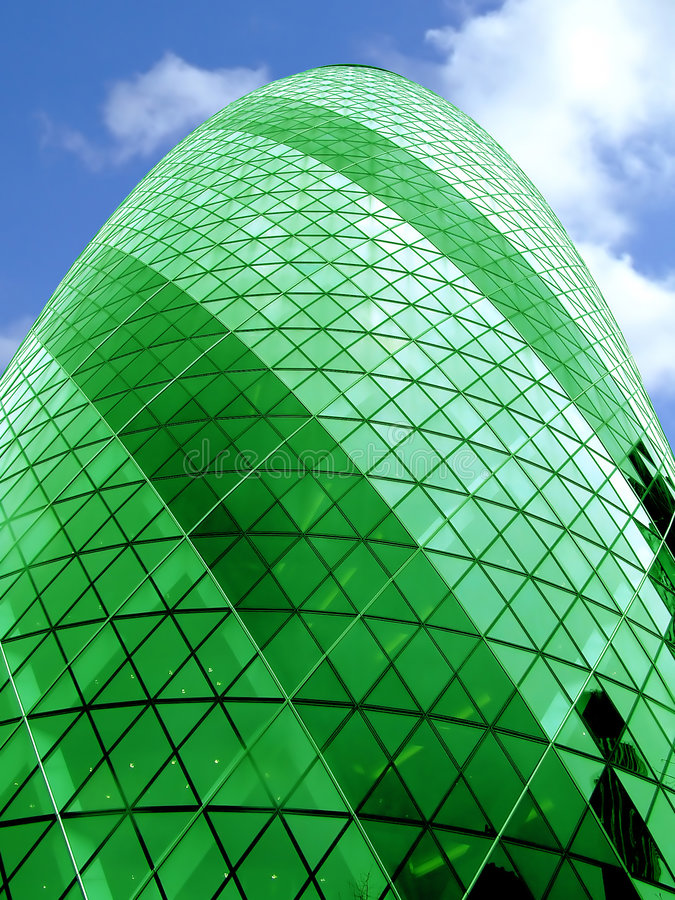 Bullet building alone green royalty free stock photos