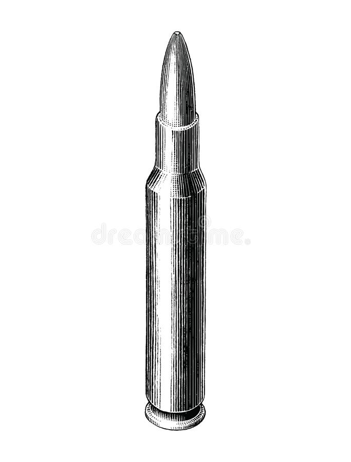 Free Bullet Hand Draw Vintage Style Black And White Clip Art Isolated On White Background Royalty Free Stock Photography - 151056587