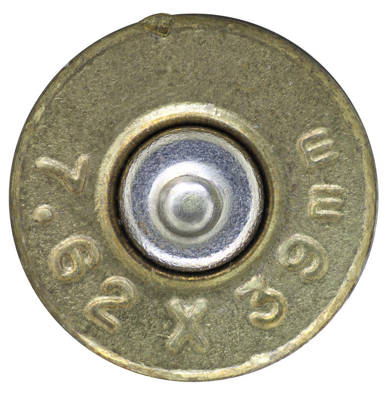 Download Bullet headstamp stock photo. Image of caliber, copper - 17472936