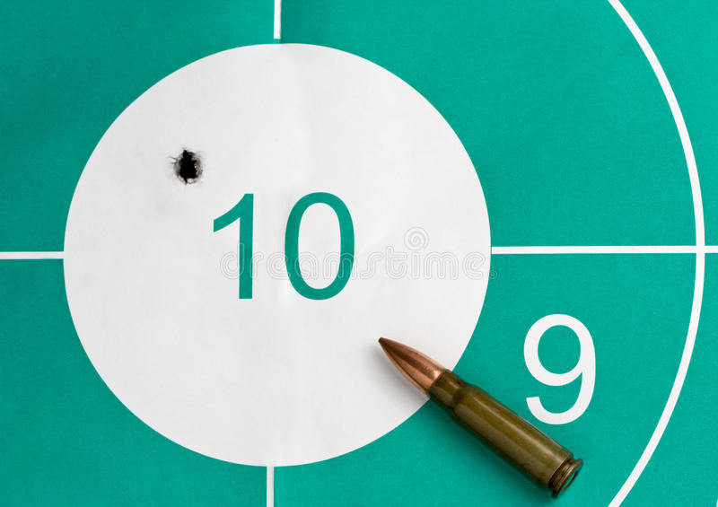 Download Bullet hit the target stock image. Image of bullseye - 14308247
