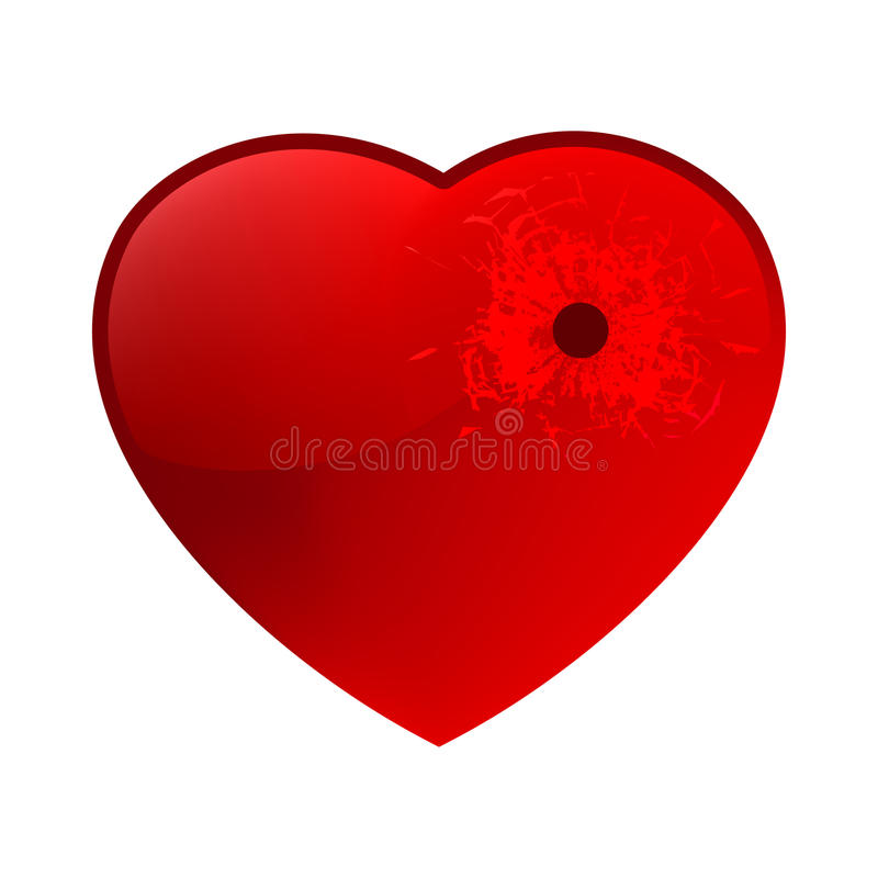 Download Bullet Hole In Heart. EPS 8 Stock Photos - Image: 18197323