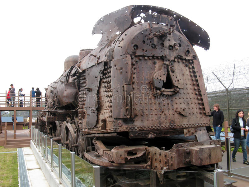 Download Bullet Hole Riddled Train, DMZ, South Korea Editorial Photo - Image: 41729391