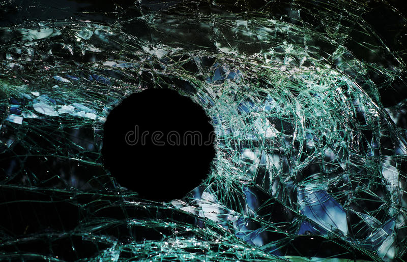 Download Bullet hole window stock photo. Image of hole, round - 63122544