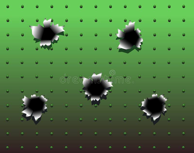 Bullet holes stock illustration