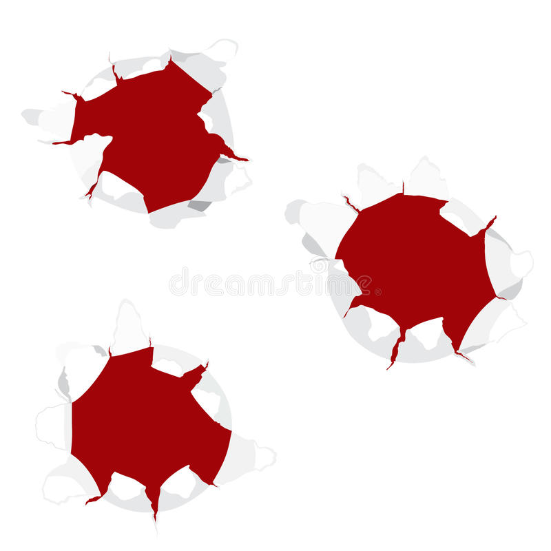 Bullet Holes Stock Images